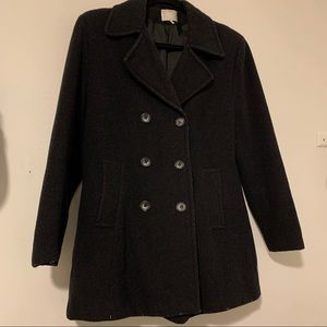 ✨ Women's Black Pea Coat - Size M